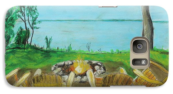 Galaxy Case featuring the painting Four Chairs by Jeanne Fischer