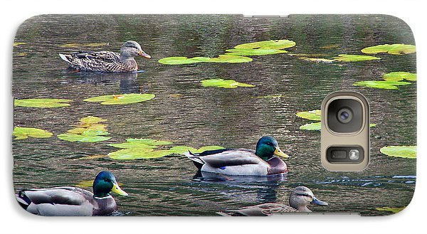 Galaxy Case featuring the photograph Four Ducks by Chris Anderson