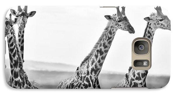 Four Giraffes Galaxy Case by Adam Romanowicz