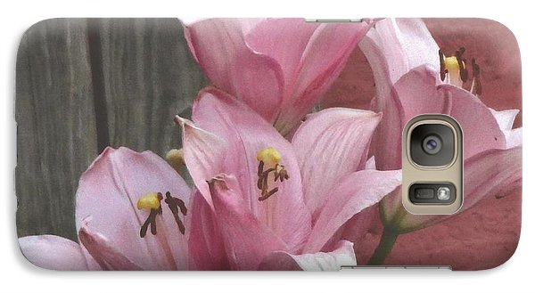 Galaxy S7 Case featuring the photograph Four Pink Asiatic Lilies by Rod Ismay