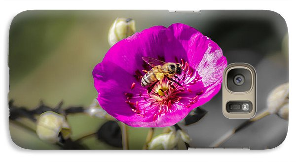 Galaxy Case featuring the digital art Fower And Bee by Photographic Art by Russel Ray Photos