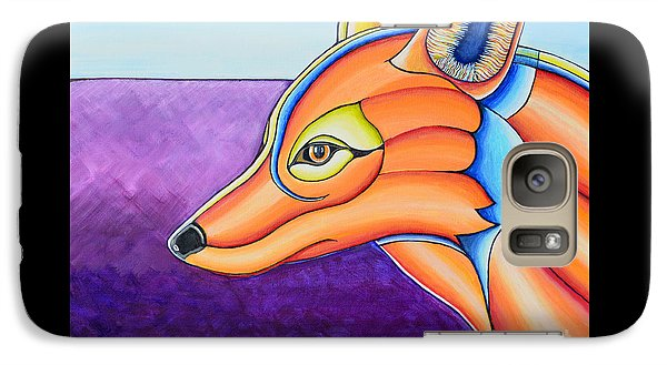 Galaxy Case featuring the painting Fox 1 by Joseph J Stevens