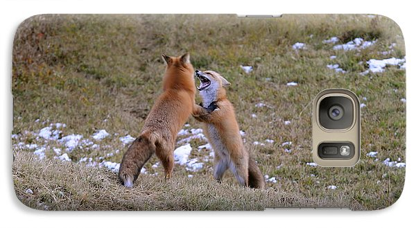 Galaxy Case featuring the photograph Fox Dance by Sandra Updyke