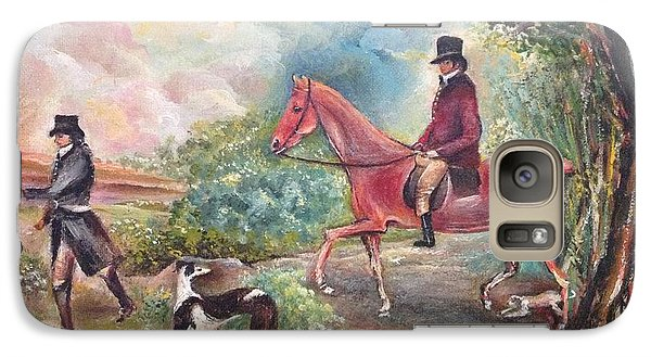 Galaxy Case featuring the painting Fox Hunting by Egidio Graziani