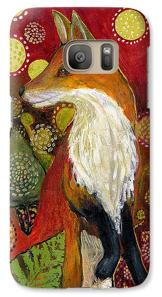 Wildlife Galaxy S7 Case - Fox Listens by Jennifer Lommers
