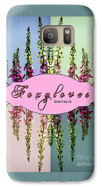 Galaxy Case featuring the photograph Foxgloves Times 4 by Margaret Newcomb