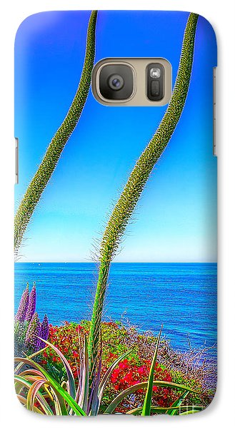 Galaxy Case featuring the photograph Foxtails On The Pacific by Jim Carrell