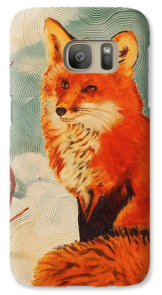 Galaxy Case featuring the painting Foxy Presence by Janet McDonald