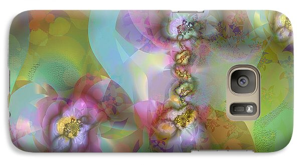 Galaxy Case featuring the digital art Fractal Blossoms by Ursula Freer