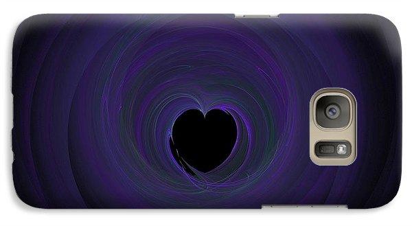 Galaxy Case featuring the digital art Fractal Blue by Henrik Lehnerer