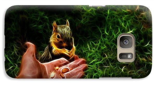 Galaxy Case featuring the digital art Fractal - Feeding My Friend - Robbie The Squirrel by James Ahn