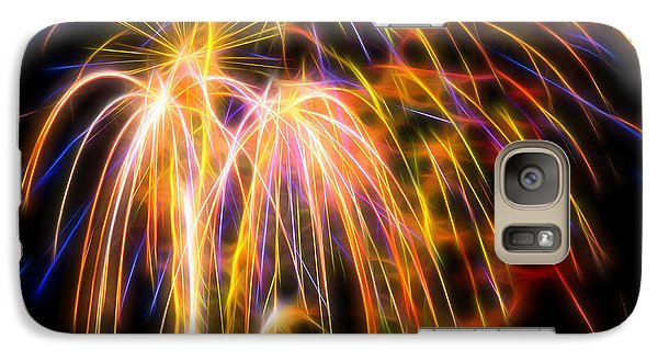 Galaxy Case featuring the photograph Colorful Fractal Fireworks #1 by Yulia Kazansky