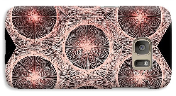 Galaxy Case featuring the drawing Fractal Fusion Hw Equals Mc Squared by Jason Padgett