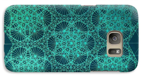 Galaxy Case featuring the drawing Fractal Interference by Jason Padgett