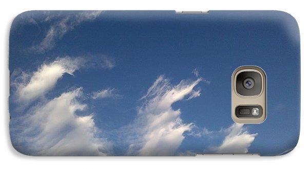 Galaxy Case featuring the digital art Fractal-like Clouds by Lea Wiggins