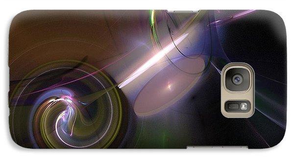 Galaxy Case featuring the digital art Fractal Multi Color by Henrik Lehnerer