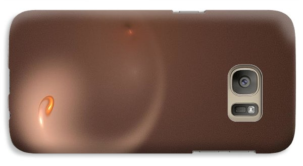 Galaxy Case featuring the digital art Fractal Orange Flair by Henrik Lehnerer
