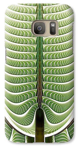 Galaxy Case featuring the digital art Fractal Pine by Anastasiya Malakhova