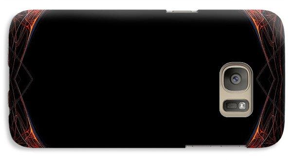 Galaxy Case featuring the digital art Fractal Red Frame by Henrik Lehnerer