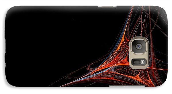 Galaxy Case featuring the photograph Fractal Red by Henrik Lehnerer