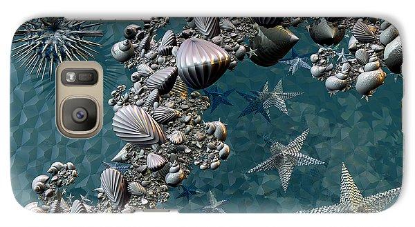 Galaxy Case featuring the digital art Fractal Sea Life by Manny Lorenzo