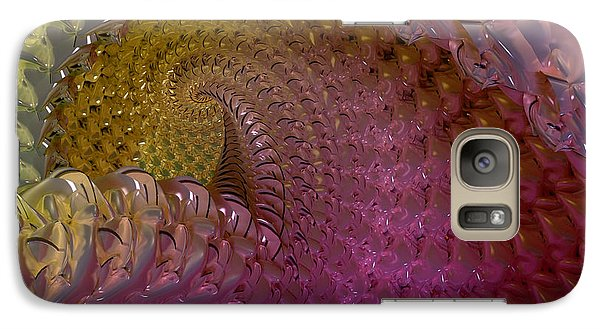 Galaxy Case featuring the digital art Fractalized Cube by Matt Lindley