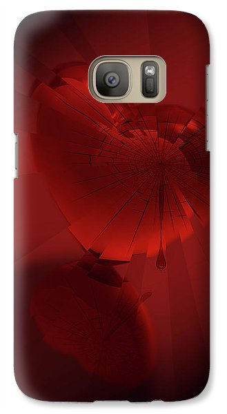 Galaxy Case featuring the digital art Fracture II by Jeremy Martinson