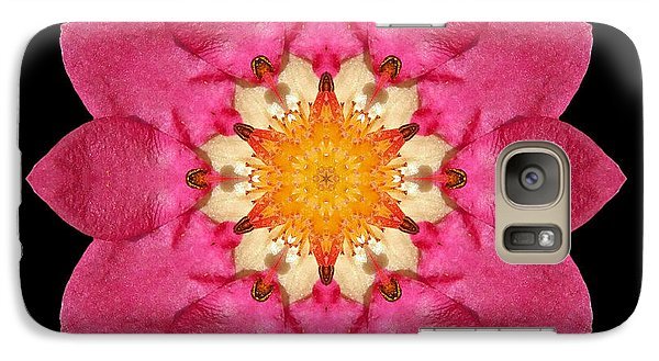 Galaxy Case featuring the photograph Fragaria Flower Mandala by David J Bookbinder