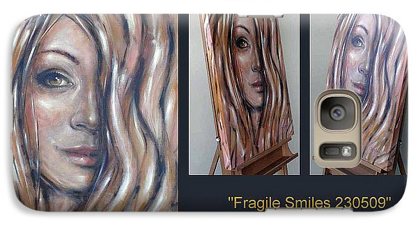 Galaxy Case featuring the painting Fragile Smiles 230509 Comp by Selena Boron