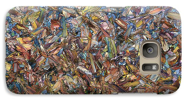 Galaxy Case featuring the painting Fragmented Fall by James W Johnson
