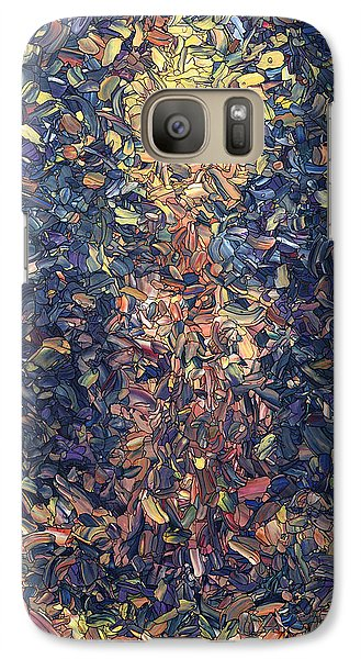 Galaxy Case featuring the painting Fragmented Flame by James W Johnson