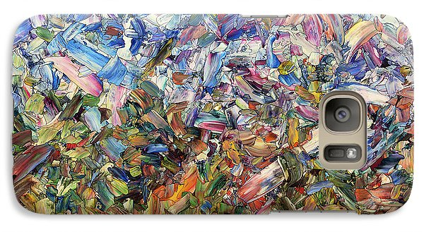 Galaxy Case featuring the painting Fragmented Garden by James W Johnson