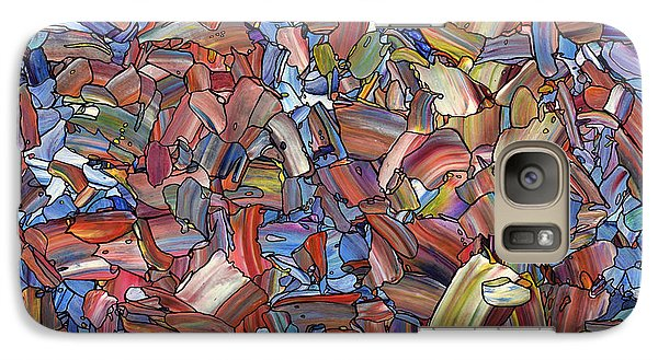 Galaxy Case featuring the painting Fragmented Rose by James W Johnson
