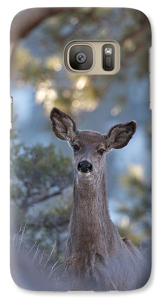 Galaxy Case featuring the photograph Framed Deer Head And Shoulders by Duncan Selby