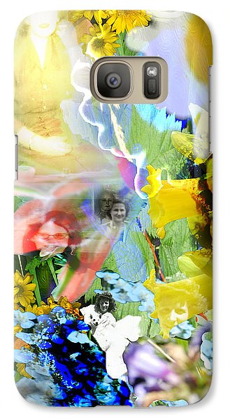 Galaxy Case featuring the digital art Framed In Flowers by Cathy Anderson