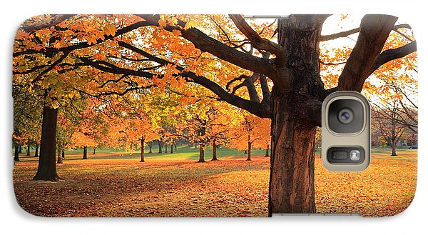 Galaxy Case featuring the photograph Francis Park Autumn Maple by Scott Rackers