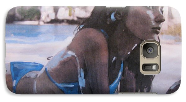 Galaxy Case featuring the painting Francoise by Vikram Singh
