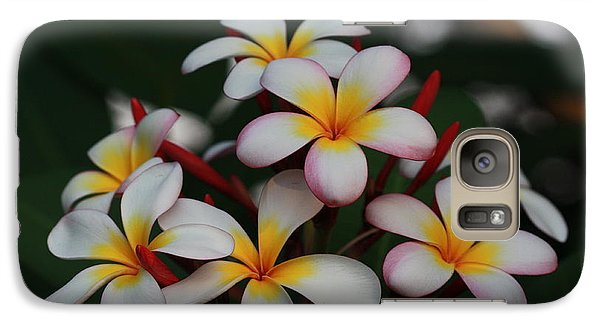 Galaxy Case featuring the photograph Frangipani Bouquet by Keith Hawley