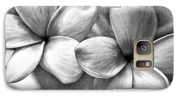 Frangipani In Black And White Galaxy S7 Case by Peggy Hughes