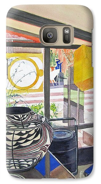Galaxy Case featuring the painting Frank Lloyd Wright Taliesin West by Carol Flagg