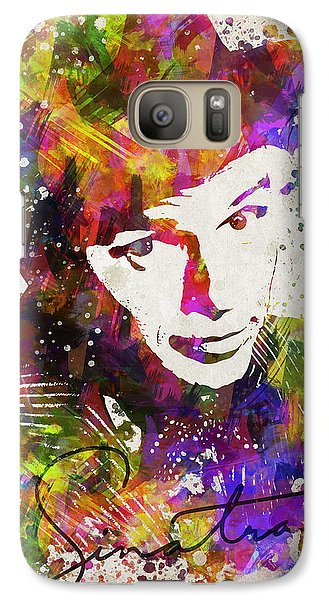 Frank Sinatra In Color Galaxy S7 Case by Aged Pixel