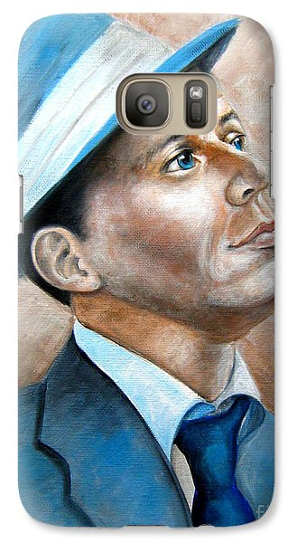 Galaxy Case featuring the painting Frank Sinatra Ol Blue Eyes by Patrice Torrillo