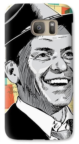 Frank Sinatra Pop Art Galaxy S7 Case by Jim Zahniser