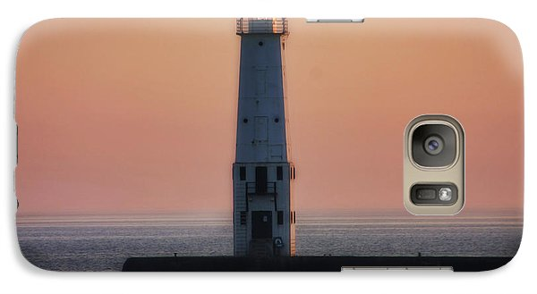 Galaxy Case featuring the photograph Frankfort Lighthouse II by Joan Bertucci