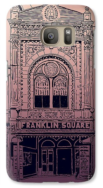 Galaxy Case featuring the drawing Franklin Square Theatre by Megan Dirsa-DuBois