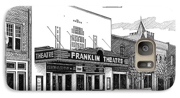Galaxy Case featuring the drawing Franklin Theatre In Franklin Tn by Janet King