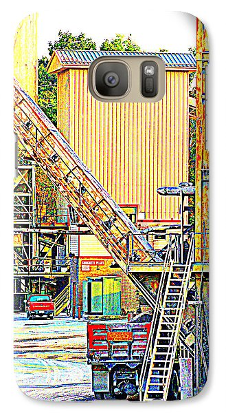 Galaxy Case featuring the photograph Fred And Barney At Work The Quarry At Ashcom Pa by Mary Beth Landis