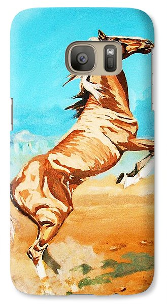 Galaxy Case featuring the painting Free Spirit by Al Brown