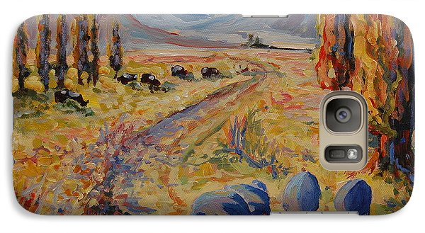 Galaxy Case featuring the painting Free State Landscape With Guinea Fowl by Thomas Bertram POOLE