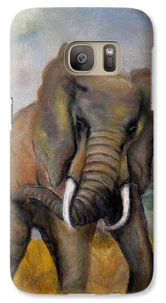 Galaxy Case featuring the painting Freedom by Annamarie Sidella-Felts
